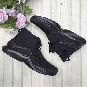 Puma The Trainer Hi By Fenty Black Sneakers